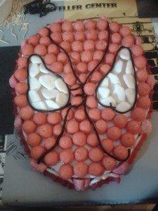 gateau bonbons spiderman